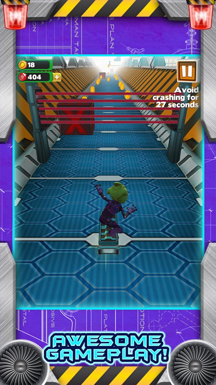 3D Skate Board Space Race - Awesome Alien Skater Racing Challenge FREE Screenshot