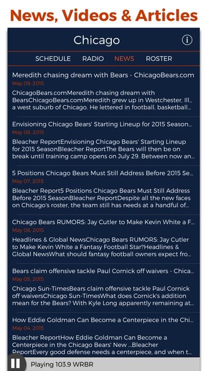 Chicago Football Radio & Live Scores screenshot-4