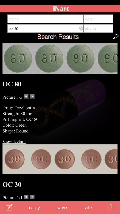iNarc: Pill Finder and Identifier