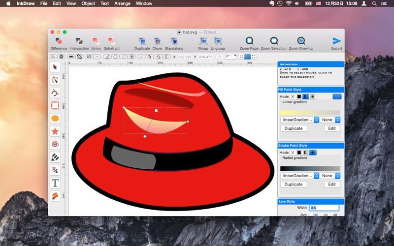 InkDraw - Vector Graphics Editor скриншот программы 2