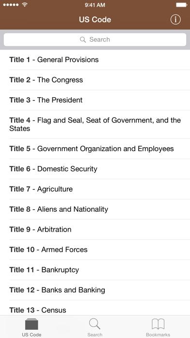 Screenshot #1 pour Codification (U.S. Code)
