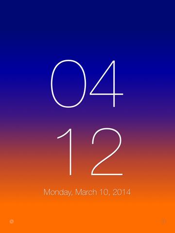 SimpleClock. iPad