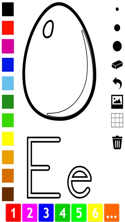 ABC Coloring Book for Toddlers: Learn to color and write the English letters of the alphabet screenshot-3