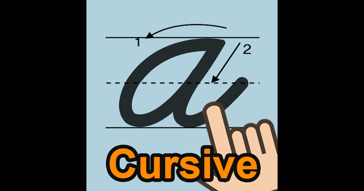 Cursive Writing On The App Store