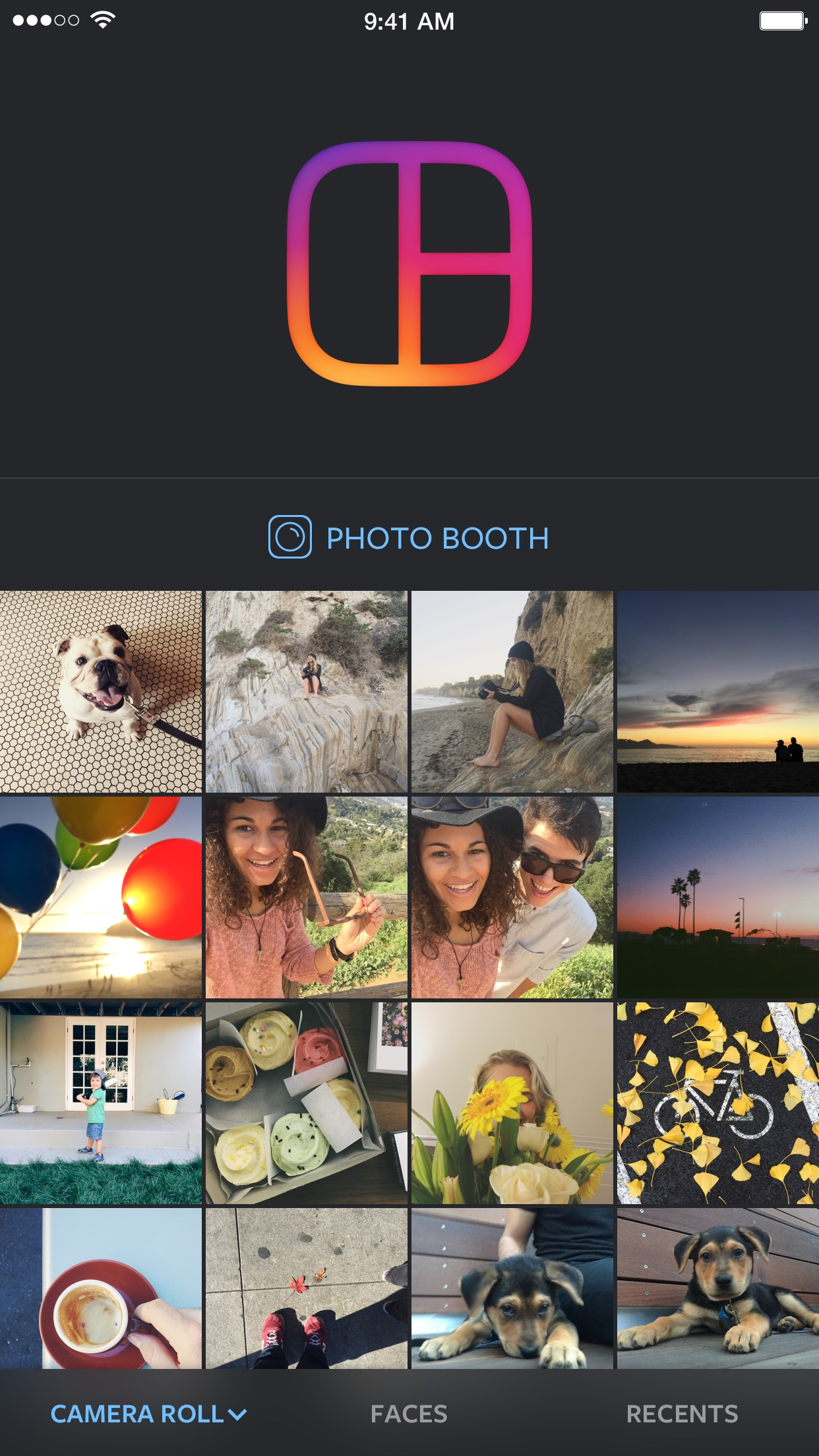 Screenshot do app Layout from Instagram