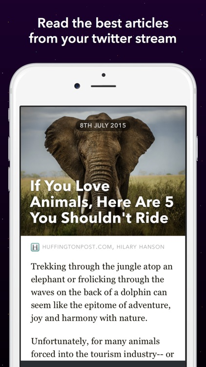 Something - Instant Articles From Your Twitter Stream