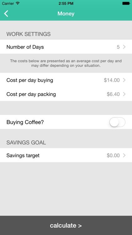 Lunch Saver - Savings Goals screenshot-4