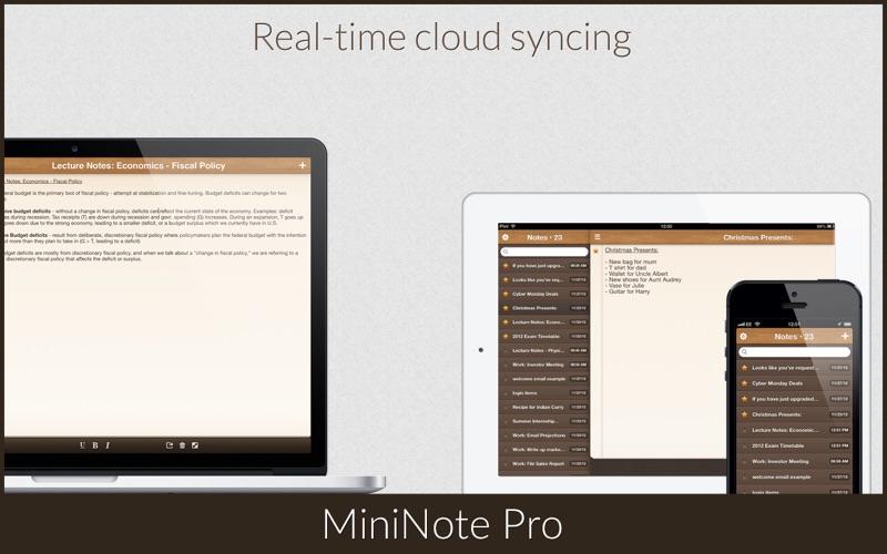 MiniNote Pro Screenshots