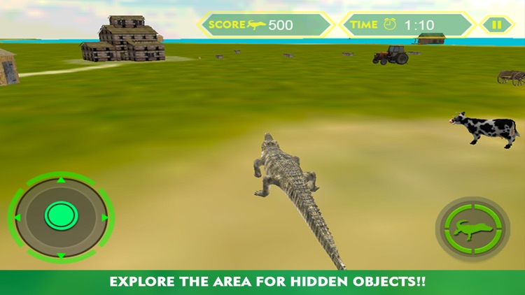 Crocodile Attack Simulator 3D – steer the wild alligator and hunt down farm animals screenshot-0