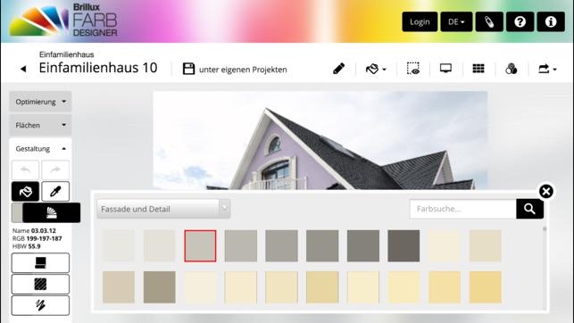 brillux farbdesigner im app store. Black Bedroom Furniture Sets. Home Design Ideas
