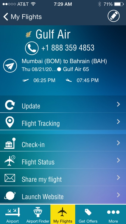 Bahrain Airport - Flight Tracker Premium Gulf Air screenshot-4