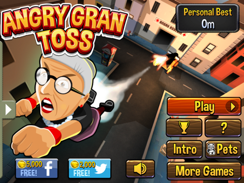 Angry Gran-Toss на iPad