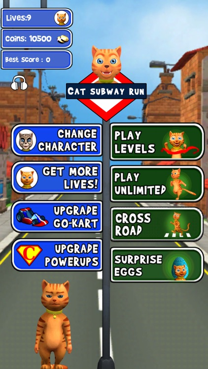 Cat Subway Run: Leo Cat vs Dog
