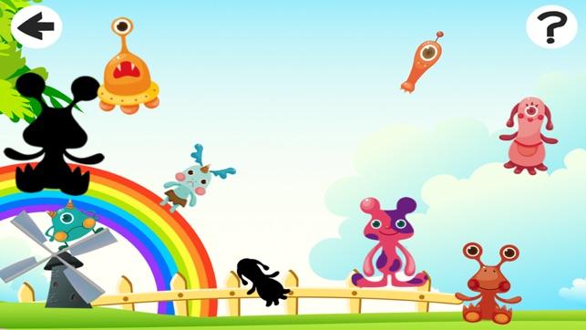 Animerade Små Monster För Barn I One Roliga Gratis Spel Spelar