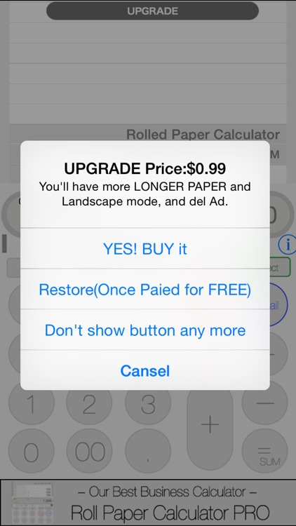 Rolled Paper Calculator PRO