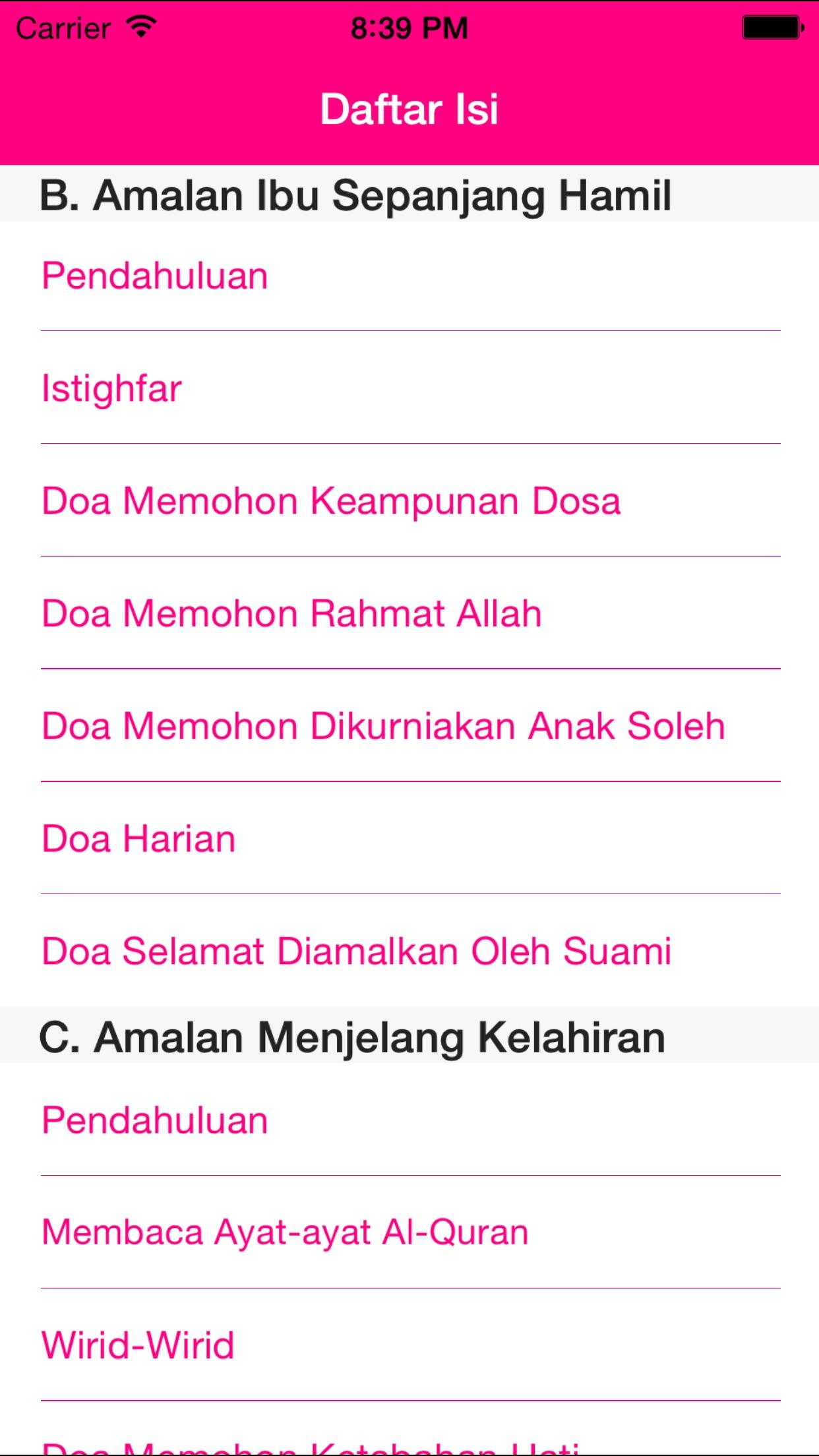 Amalan Hamil Screenshot