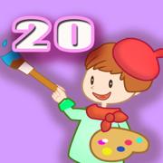 天才小画家 20 - 幼儿 宝宝给仙女精灵涂色