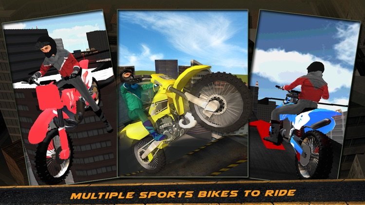 crazy motorcycle roof jumping 3d ride the motorbike to perform extreme stunts by ozitech games. Black Bedroom Furniture Sets. Home Design Ideas