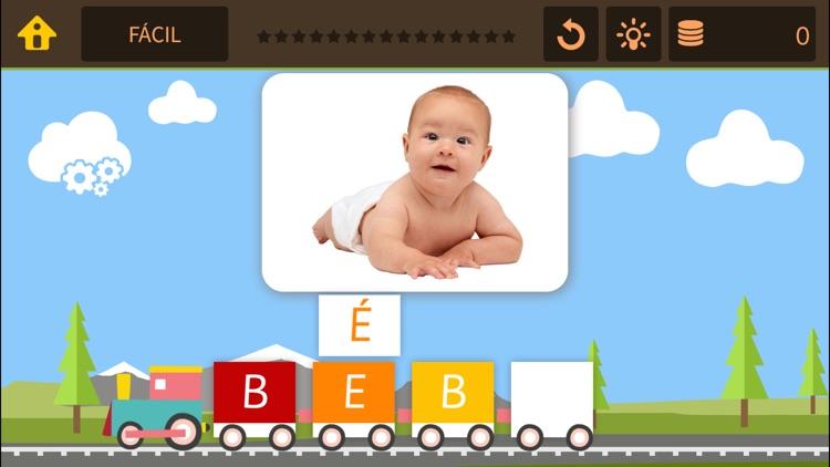 Tren de palabras – Juegos de spelling bee y puzzle busca la palabra para niños