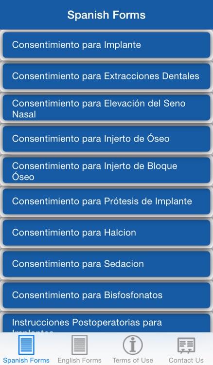 Implant Consents: Spanish & English