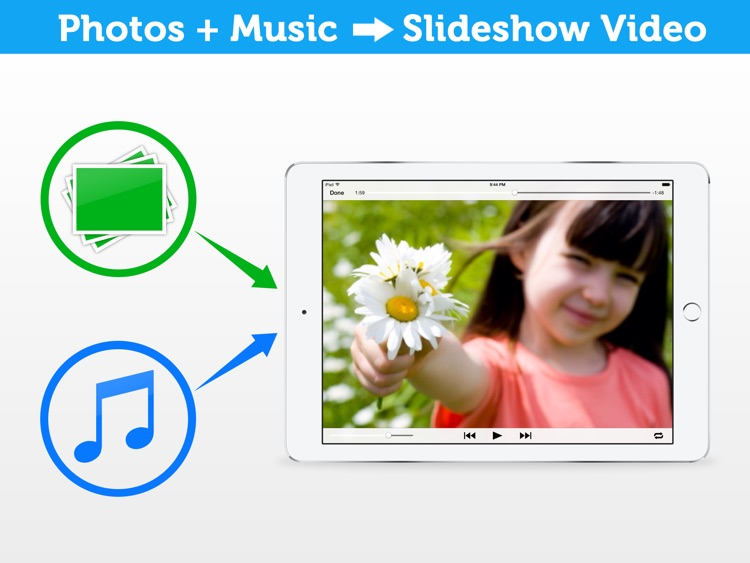 fotovidia hd: slideshow video maker from photos and music