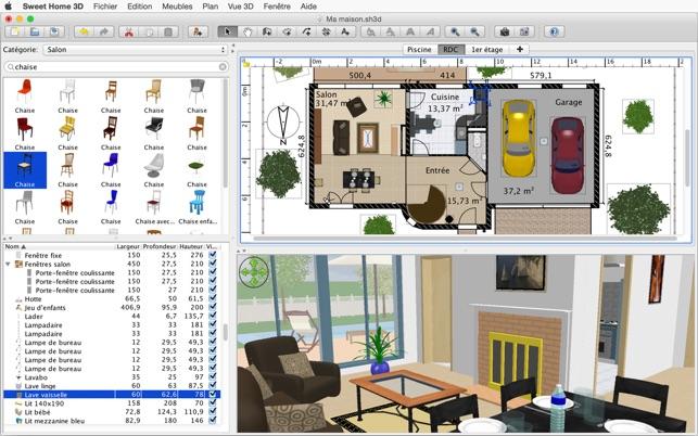 Sweet Home 3D Dans Le Mac App Store