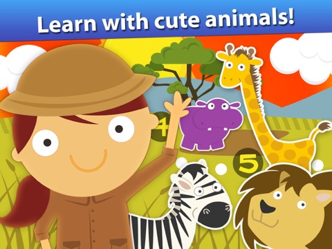 Screenshot #5 for Animal Math Games for Kids in Pre-K, Kindergarten and 1st Grade Learning Numbers, Counting, Addition and Subtraction Premium