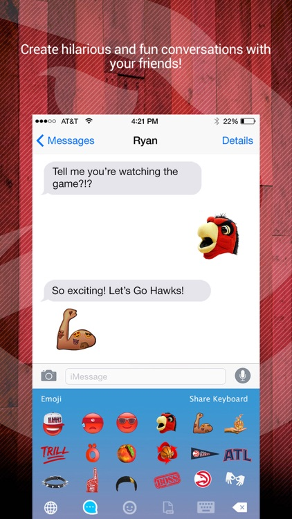 Atlanta Hawks Emoji Keyboard