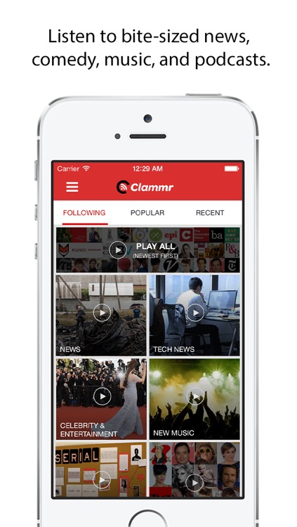 Clammr Radio – Discover Podcasts, Music, & News Headlines