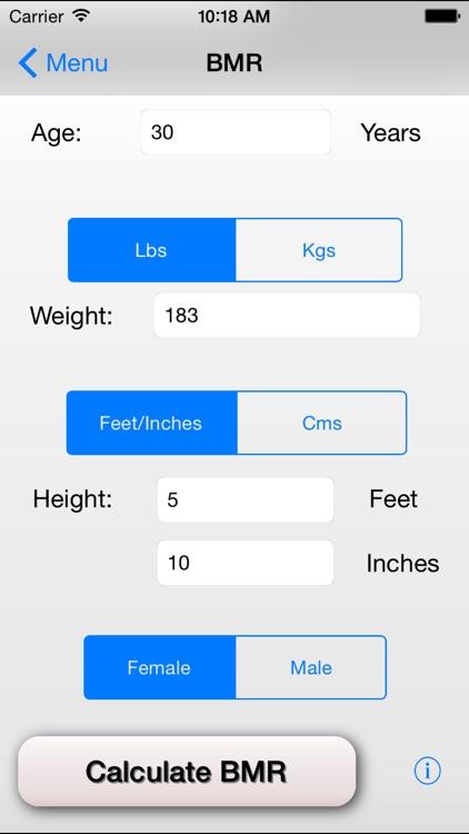 Basal Metabolic Rate - BMR Calculator by Brett Gray