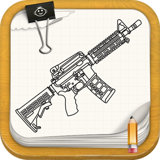 Learn To Draw : Pistols and Guns