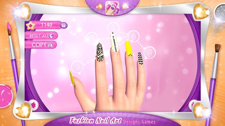 Fashion Nail Art Designs Game Pink Nails Manicure Salon