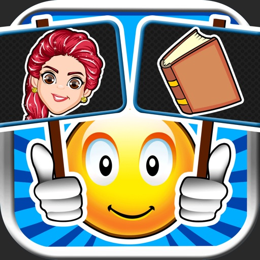 Emoji Guess & Letter Up Icon Pic - find what's the word in this guessing trivia crack pop quiz iOS App