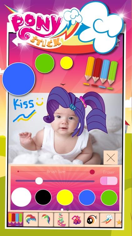 "Manga & Anime Sticker Camera Pony ""Photo Booth Dress Up in Style For Rainbow"" screenshot-4"