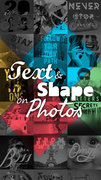 点击获取Text and shape on Photo Free – HD caption, overlay, symbols. Insta fun image editing