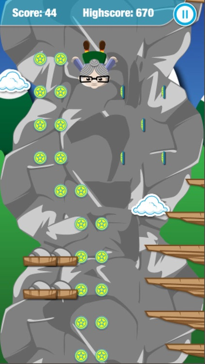 Granny Jump - Steep, Crazy Dive, lady, bungee screenshot-4
