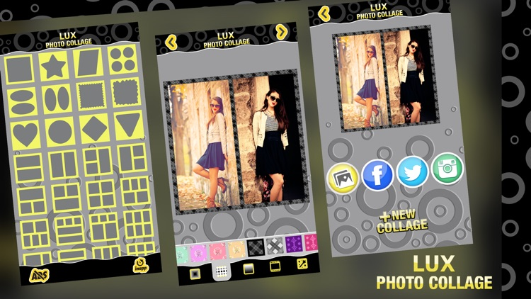 Lux Photo Collage Editor: Luxurious Picture Frames & Grid Maker for Collages