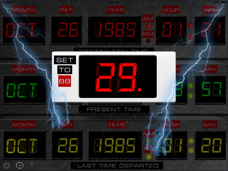 Time Circuits Dashboard Clock