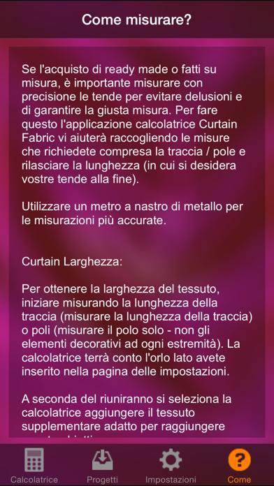 Screenshot of Calcolatrice tessuto della tenda4