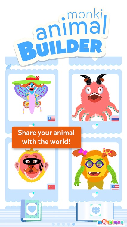 Monki Animal Builder - Language Learning for Kids and Toddlers screenshot-3