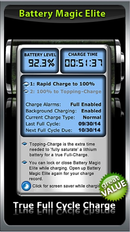 Battery : Battery Power Battery Charge Battery Life Battery Saver - The All in 1 Battery App Battery Magic Elite! screenshot-4