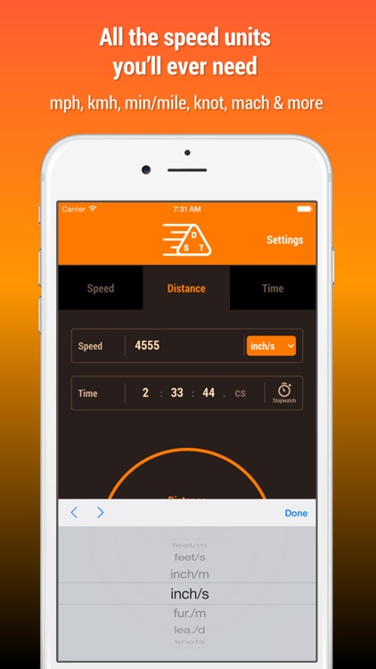 Speed Distance Time Calculator