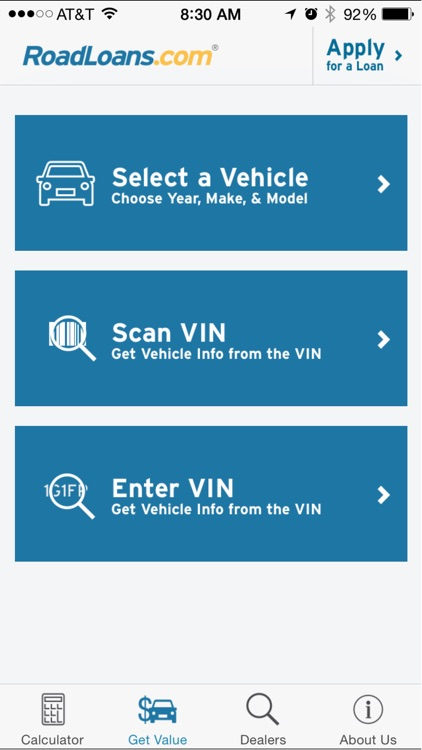 RoadLoans - Tools for Cars: Finding, Buying, & Owning - with Loan Calculator, VIN Scanner, & More