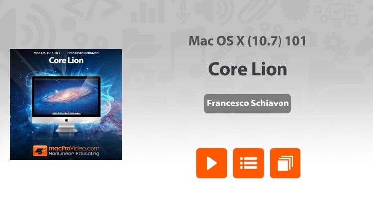 Course For Mac OS X 10.7 101 - Core Lion
