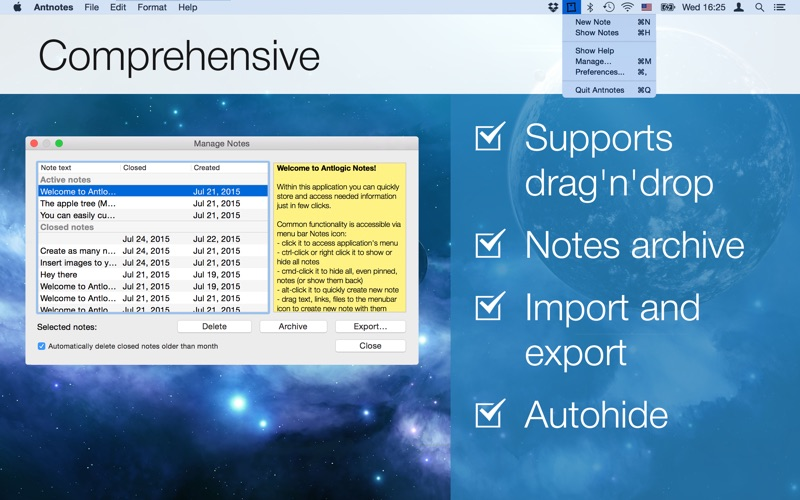 Simple Antnotes Screenshot