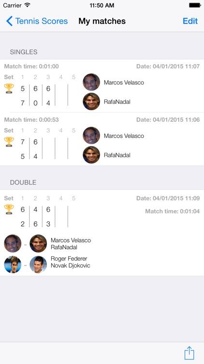 Tennis Scores screenshot-3