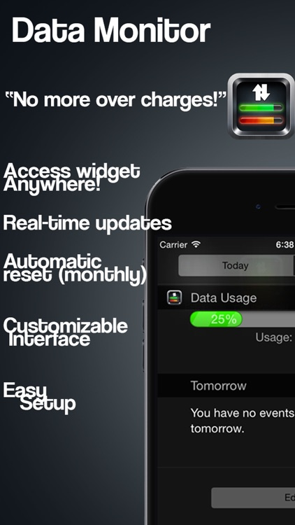 Data Monitor - Widget for 3G Internet Tracking Cellular Usage Monitor Extension for 3G & LTE