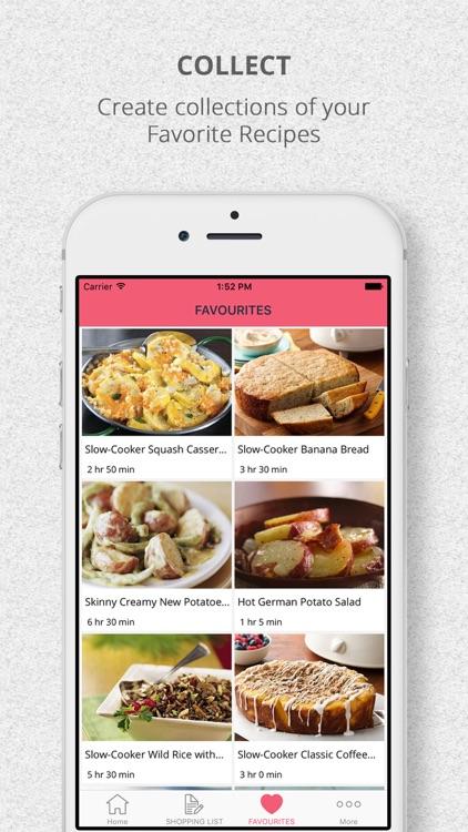 SlowCooker Crockpot Recipes & Shopping List screenshot-3