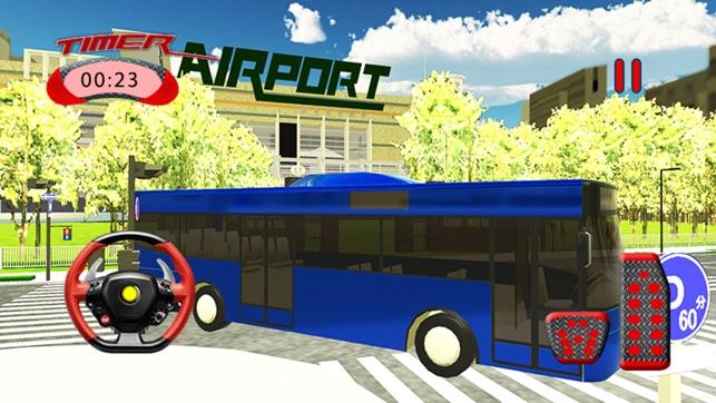 sân bay dịch vụ xe buýt mô phỏng xe tải lái xe