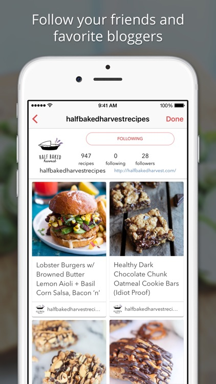 BigOven 350,000+ Recipes and Grocery List app image